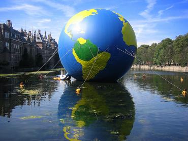 Inflatable globe Greenpeace
